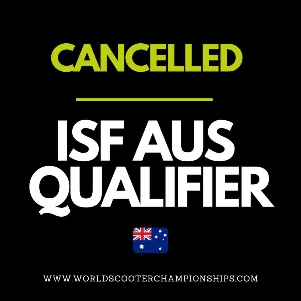 Australiasian Scooter Championship Qualifier Cancelled
